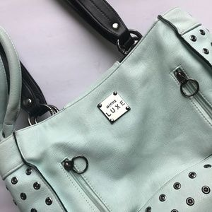Large Miche Bag & Shell, Turquoise Miche Bag